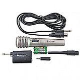 Микрофон вокальный беспроводной Defender MIC-140 серый, металл, фото 2