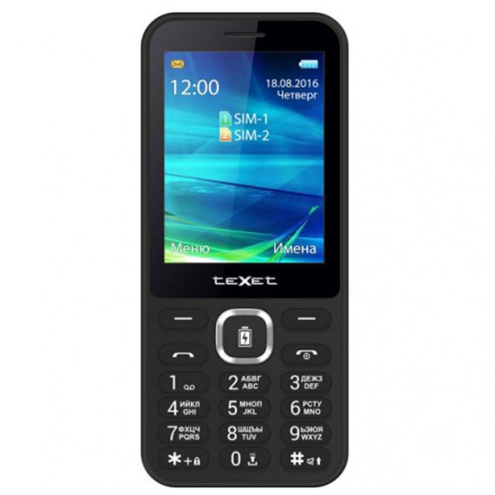 Мобильный телефон Texet TM-D327 черный