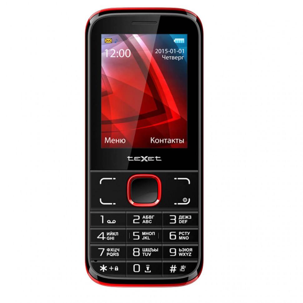 Мобильный телефон Texet TM-106 черно-красный
