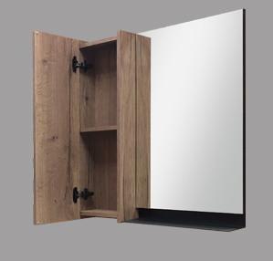 """Зеркало-шкаф """"Кёльн-90"""". Дуб темный"""