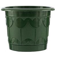 Горшок Тюльпан с поддоном, зеленый, 2,9 л// Palisad
