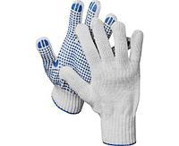 DEXX перчатки трикотажные, 10 пар, 7 класс, с ПВХ покрытием (точка)