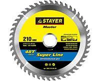 STAYER Super line 210 x 30 мм 48Т, диск пильный по дереву