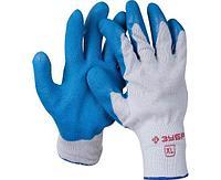 ЗУБР СУПЕРПРОЧНЫЕ, размер XL, рельефные особопрочные противоскользящие перчатки, 11260-XL