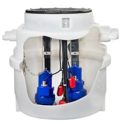 Водоподъемные фекальные установки / Канализационные насосные станции Evamatic-Box N, фото 2