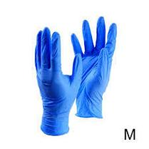 Перчатки нитриловые, неопудренные, нестерильные. Цвет синий, размер XS,, фото 3