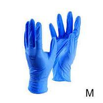 Перчатки нитриловые, неопудренные, нестерильные. Цвет синий, размер XS, фото 3