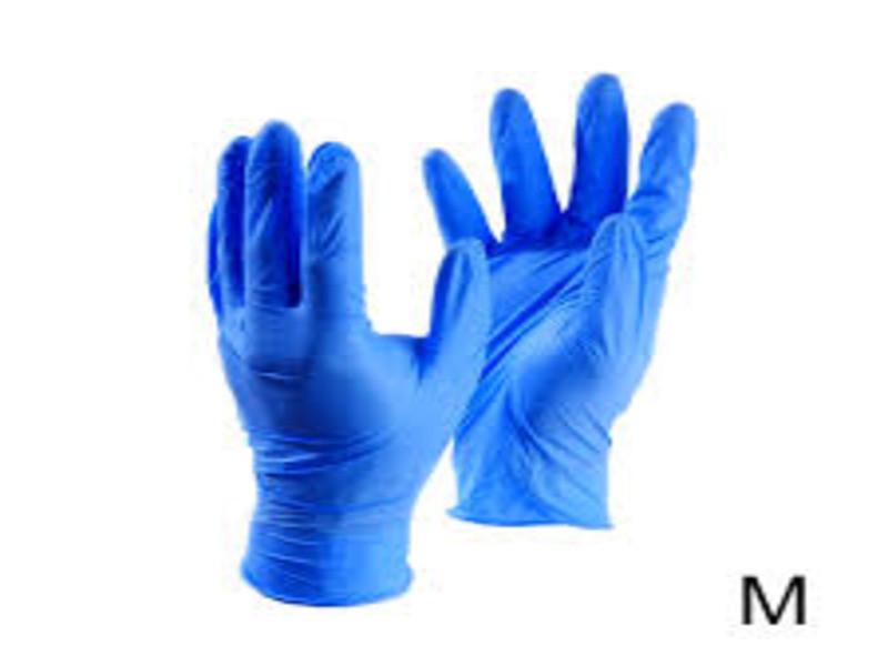 Перчатки нитриловые, неопудренные, нестерильные. Цвет синий, размер XS - фото 4