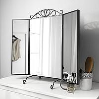 КАРМСУНД Зеркало настольное, черный, 80x74 см, фото 1