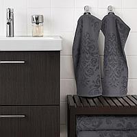 ФЛОКАН Полотенце, серый, 30x50 см, фото 1