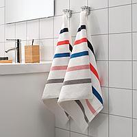 ФОСКОН Полотенце, белый, разноцветный, 50x100 см, фото 1