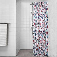 КРАТТЕН Штора для ванной, белый, разноцветный, 180x200 см, фото 1