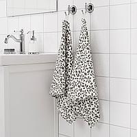 ЮВЕЛЬБЛОММА Полотенце, белый, серый, 50x100 см, фото 1