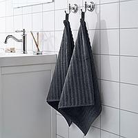 ФЛОДАРЕН Полотенце, темно-серый, 50x100 см, фото 1