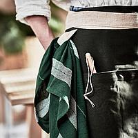 БОТАНИСК Полотенце, темно-зеленый/белый ручная работа, 50x70 см, фото 1