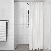 КЛОККАРЕН Штора для ванной, белый с оттенком, белый