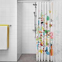 БОТАРЕН Штанга для шторы в ванную, белый, 70-120 см