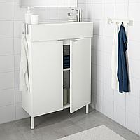ЛИЛЛОНГЕН Шкаф под раковину с 2 дверц, белый, ЭНСЕН смеситель, 62x27x88 см