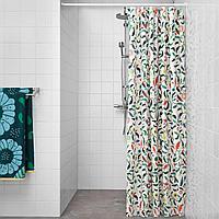 САНДБРЕДАН Штора для ванной, разноцветный, 180x200 см