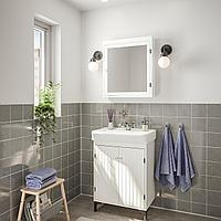 СИЛВЕРОН / ХЭМНВИКЕН Комплект мебели для ванной,5 предм., белый, РУНШЕР смеситель, 63 см, фото 1