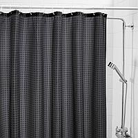 САКСЭЛЬВЕН Штора для ванной, антрацит, 180x200 см