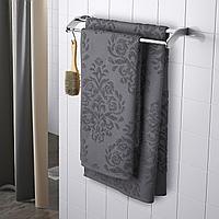 ФЛОКАН Полотенце, серый, 50x100 см
