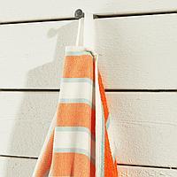 СОЛБЛЕКТ Пляжное полотенце, в полоску оранжевый, оранжевый