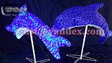 """Фигура светящаяся уличная светодиодная акриловая 3D """"Дельфин"""", фото 2"""
