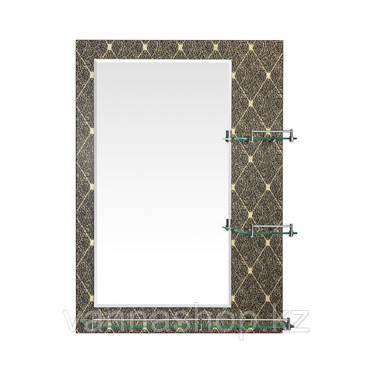 Зеркало настенное для ванных комнат с бортиком 50/70
