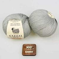 Пряжа GAZZAL Пряжа GAZZAL  Baby Wool Цвет.817 Светло-серый