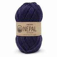 Пряжа DROPS Пряжа DROPS Nepal Цвет.1709 Темно синий