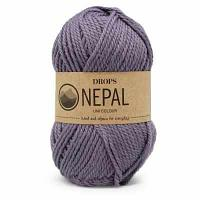 Пряжа DROPS Пряжа DROPS Nepal Цвет.4311 Grey/purple