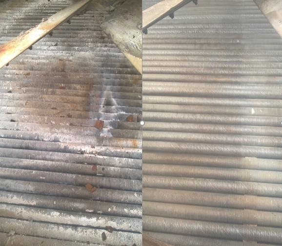 Очистка секций аппаратов воздушного охлаждения