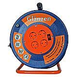 Удлинитель силовой на катушке GLANZEN 4гн. КГ 3*1,5 арт. EB-50-009, фото 2