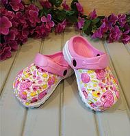 Кроксы детские , цвет розовый, 28 размер