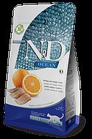 Беззерновой корм Farmina N&D Adult для взрослых кошек (Рыба, Апельсин) - 300 г