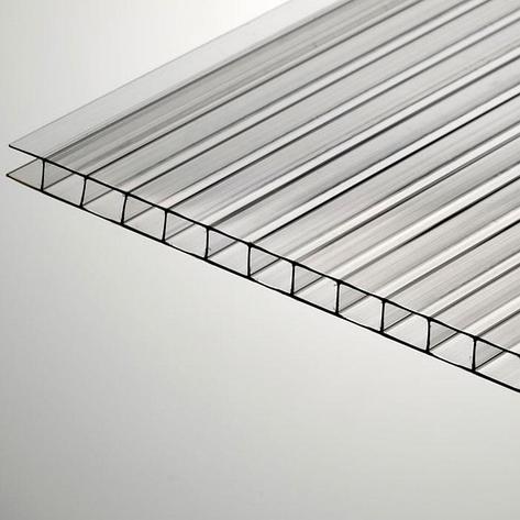 Сотовый поликарбонатный лист прозрачный Skyglass 2100х6000х6 мм, фото 2