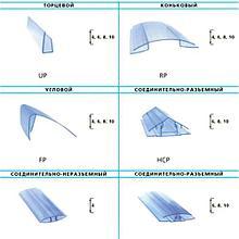Профиль для поликарбоната торцевой 4-10*2100 мм, прозрачный