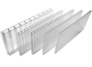 Сотовый поликарбонатный лист прозрачный Skyglass 2100х6000х10 мм