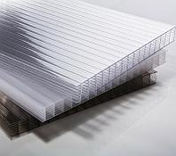 Сотовый поликарбонатный лист прозрачный Skyglass 2100х6000х4мм