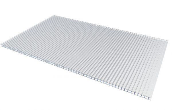Сотовый поликарбонатный лист прозрачный АГРО-ТИТАН 2100х6000х4мм, фото 2