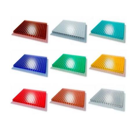 Сотовый поликарбонатный лист цветной Skyglass 2100х12000х8мм, фото 2