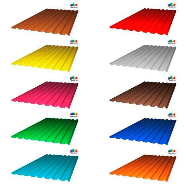 Профилированный поликарбонат (цветной), 0.8 мм