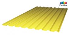 Профилированный поликарбонат, жёлтый цвет, 0.8 мм
