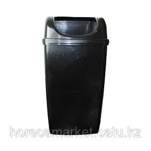 Ведро для мусора 50 л настенное без крышки черный
