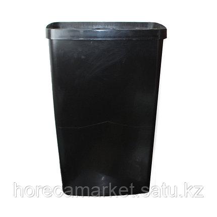 Ведро для мусора 50 л настенное без крышки черный, фото 2