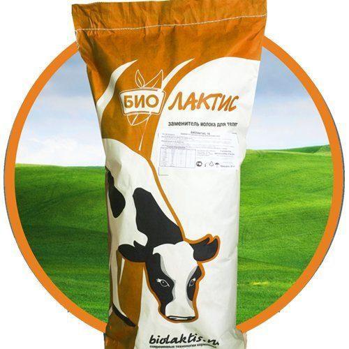 Заменитель цельного молока ( сухое молоко , ЗЦМ) Биолактис 16% START со льном 25кг