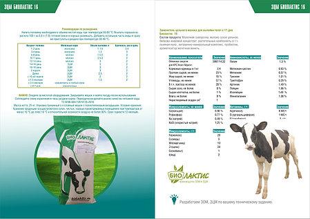 Заменитель цельного молока ( сухое молоко , зцм ) Биолактис 16% с 11 дня выпойки, фото 2