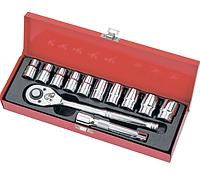"""Набор торцевых головок, 1/2"""", головки 10 - 24 мм, с трещот. ключом, 12 предм.// Matrix"""