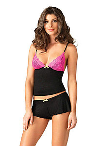 "Комплект ""Lace & Jersey cami & shorts"" Leg Avenue, размер М (44)"